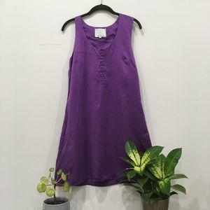 Urban Outfitters Purple Silk Dress